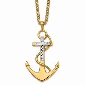 Cross/Anchor 24in Necklace